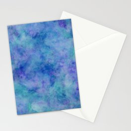 Bright Blue Watercolor Texture Stationery Cards