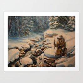 The Winter Hunt Art Print