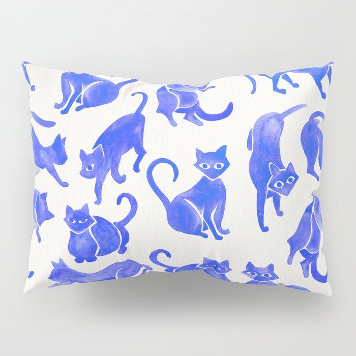 Cat Positions – Blue Palette Pillow Sham