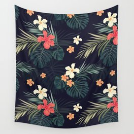 Dark tropical Wall Tapestry
