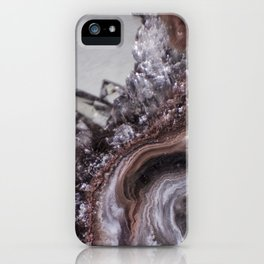 Tiny Agate and crystals iPhone Case