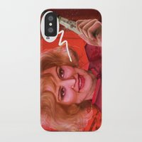 jessica lange iPhone & iPod Cases featuring Don't fuck with the Lange by Sabuchan