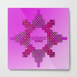 Violet Lantern Symbol & Oath Metal Print