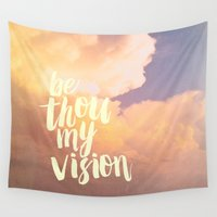 scripture Wall Tapestries featuring MY VISION by Pocket Fuel