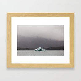 Iceberg on the glacial lagoon - landscape photography Framed Art Print