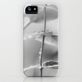 the art of peace (black and white) iPhone Case