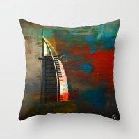 arab Throw Pillows featuring Burj Al Arab by Christine Becksted Images