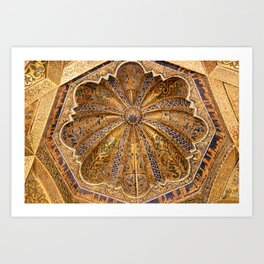 Dome of the Maqsura (Cordoba) Art Print