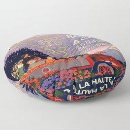 Vintage poster - Route des Alpes, France Floor Pillow