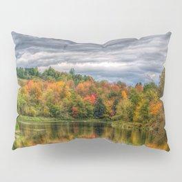 Reflection in Pond Vermont Autumn Pillow Sham