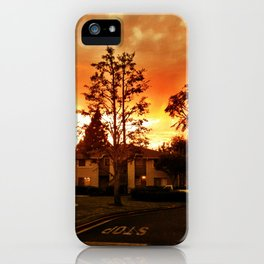 Sky at dusk. iPhone Case