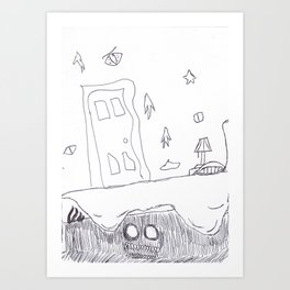 Monster Under the Bed Art Print