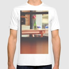The table by the window White MEDIUM Mens Fitted Tee