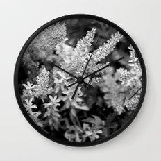 Leaves black n white Wall Clock