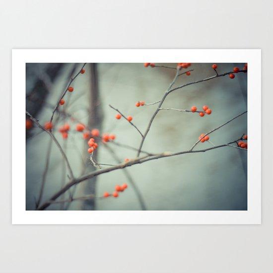 Berries. Art Print