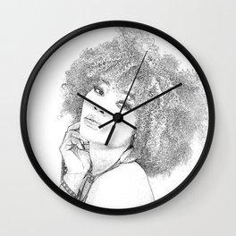 Woman Frizzy Wall Clock