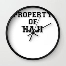 Property of HAJI Wall Clock