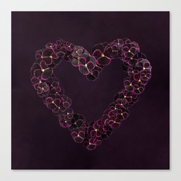 Purple Pansy Heart Canvas Print