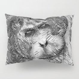 AnimalArtBW_OrangUtan_20170901_by_JAMColorsSpecial Pillow Sham