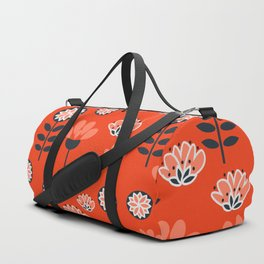 Whimsy wildflowers in red Duffle Bag
