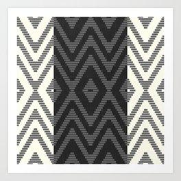 Rattan in Charcoal Art Print