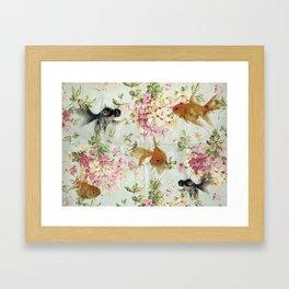 Goldfish wallpaper Framed Art Print