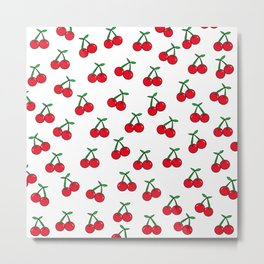 Cherries 1 (on white) Metal Print