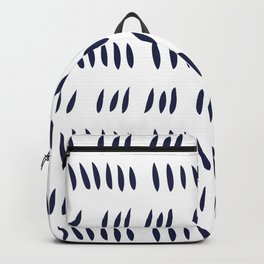 MATISSE CUTOUTS . WHITE + MIDNIGHT BLUE Backpack