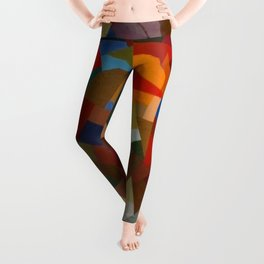 Otto Freundlich Rosace ii Abstract Acrylic Painting Modern Geometric Colorful Art Pattern Leggings