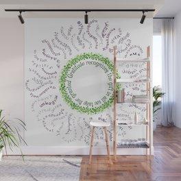 Gratitude Mandala Sun Flower Wall Mural