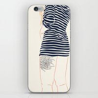 stripes iPhone & iPod Skins featuring Stripes by Elly Liyana