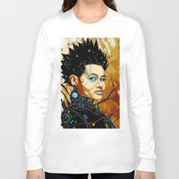 sci fi Long Sleeve T-shirts featuring BLK SCI-FI 1 by BlackKirby1