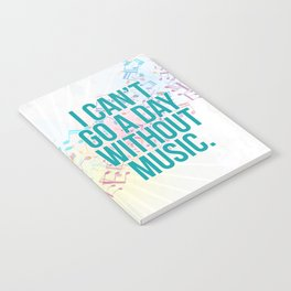 A Day Without Music Quote Notebook
