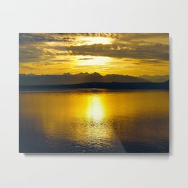 Sunset at Glacier NP Metal Print