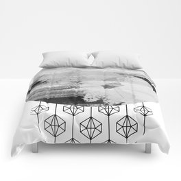 'Planets' minimal styled geometrc design and abstract painting Comforters