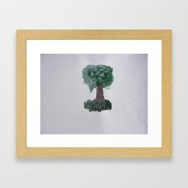 Lonely tree.  Framed Art Print
