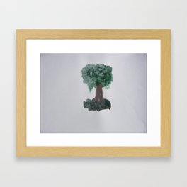 Lonely tree.  Framed Art Print