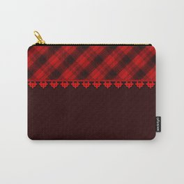 Red brown plaid, plaid blanket, red and brown pattern, patchwork, folklore, rustic style, elegant pa Carry-All Pouch