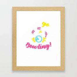 Let's Go Bowling! Framed Art Print