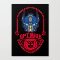 optimus prime Canvas Prints featuring Optimus by Buby87