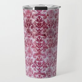 Vintage Antique Pink-Magenta Wallpaper Pattern Travel Mug