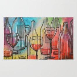 Abstract wine art / Friday Night Rug