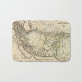 Map of Persia circa 1847 (Afghanistan, Pakistan, Iran) Bath Mat
