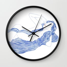 Water Nymph XXXVI Wall Clock