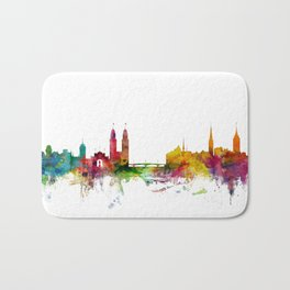Zurich Switzerland Skyline Bath Mat