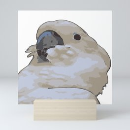 Chubby Blue Eyed Cockatoo Cacatua Ophthalmica Mini Art Print