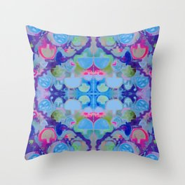 Staycation (blue) Throw Pillow