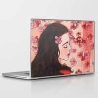 snow white Laptop & iPad Skins featuring Snow White by Sarah Larguier