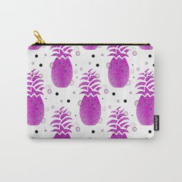 Purple Pineapple Pattern Carry-All Pouch