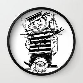 Sailing Pals Ready For Adventure Wall Clock